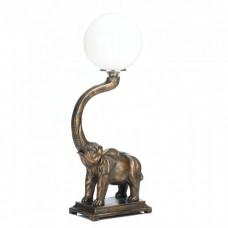 #10017184 TRUMPETING ELEPHANT LAMP