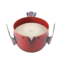 #10017667 RED APPLE BIRDIE CANDLE