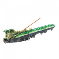 # 10017772 GREEN DRAGON CRYSTAL INCENSE BURNER