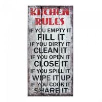 #10017955 - KITCHEN RULES WALL ART