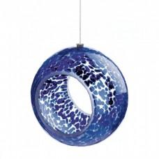 #10018065 BLUE SPECKLED GLASS BIRD FEEDER