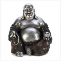 #14581 Happy Sitting Buddha Statue