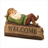 #14584  Sleepy Gnome Welcome Sign