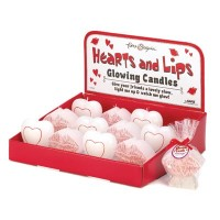 #14892 HEARTS AND LIPS GLOW CANDLE