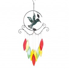 10016372   HUMMINGBIRD WITH GLASS CHIMES