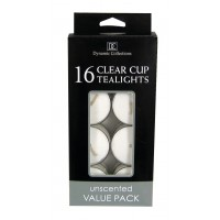 #10016507  White Clear Cup Tealights