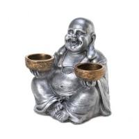 # 10016191  SITTING BUDDHA CANDLEHOLDER