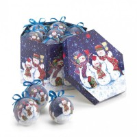 # 10016079 WINTERY NIGHT SNOWMAN ORNAMENT SET