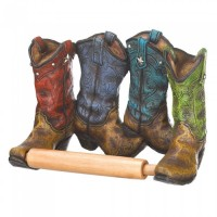 #10016206 COWBOY BOOTS TOILET ROLL HOLDER