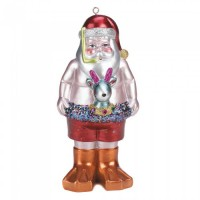 # 10017214  SWIMMING SANTA ORNAMENT