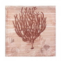 #10017387  SEASIDE CORAL CANVAS WALL ART