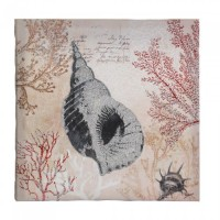 #10017393  SPIRAL CONCH SHELL CANVAS WALL ART