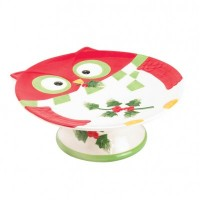 # 10016061  HOLIDAY HOOT CAKE STAND
