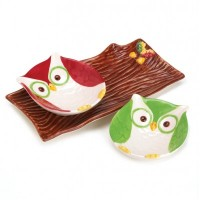 # 10016062  HOLIDAY HOOT SNACK PLATES