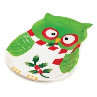 # 10016064  HOLIDAY HOOT LARGE PLATE