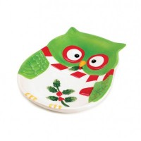 # 10016065  HOLIDAY HOOT SMALL PLATE