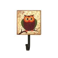 #10015404 RETRO OWL WALL HOOK