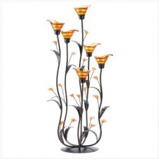 #12793 Amber Calla Lily Candleholder