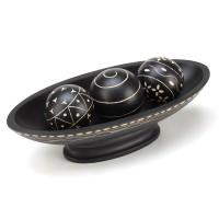 #10015354 Ebony Decorative Ball Tray