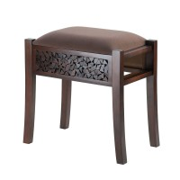 #10015373 REGENT CARVED FOOT STOOL