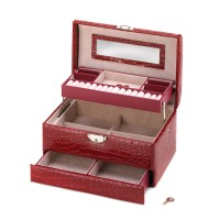 #10015417 DELUXE RED JEWELRY BOX