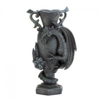 #15259 BLACK DRAGON DECORATIVE VASE