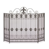 #10015400 FRENCH REVIVAL FIREPLACE SCREEN