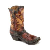 #10015444 COWBOY BOOT WINE BOTTLE HOLDER