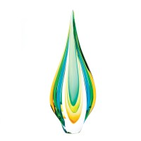 #10015486 COOL FLAME ART GLASS STATUE