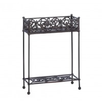 #10015519 CAST IRON TWO-TIER PLANT STAND