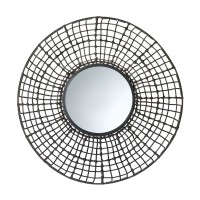 #10015538 KNOTTED RATTAN WALL MIRROR