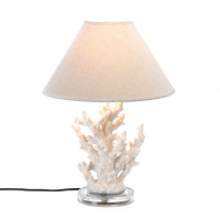 #10015678 WHITE CORAL TABLE LAMP