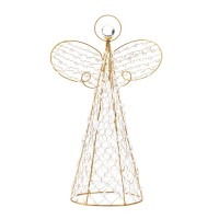 #10015359 BEADED ANGEL DECOR