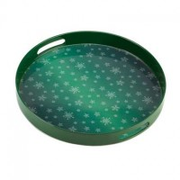 # 10015514 GREEN SNOWFLAKE SERVING TRAY